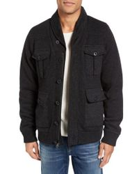 Schott Nyc | Military Sherpa-lined Sweater Jacket | Lyst