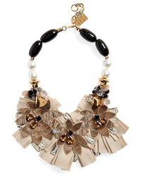 Lizzie Fortunato Magic Hour Bib Necklace - Brown