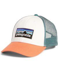 49bcbeeaaac2e Patagonia Fitz Roy Emblem Lopro Trucker Hat in Black - Lyst