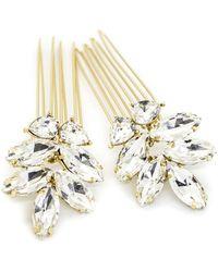 Brides & Hairpins Bendetta Set Of 2 Combs - Metallic