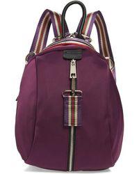 Sondra Roberts - Satin Nylon & Webbing Convertible Backpack - Purple - Lyst