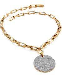 Monica Vinader Ava Large Disc Pendant Necklace - Metallic