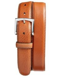 Bosca - The County Line Leather Belt - Lyst