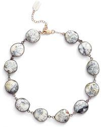 Ela Rae - Suze Semiprecious Stone Collar Necklace - Lyst