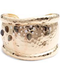 Melinda Maria - Layla Labradorite & Crystal Cuff Bracelet - Lyst
