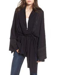 Free People - Tie Wrap Kimono - Lyst