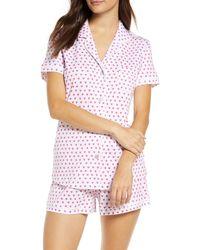 Roberta Roller Rabbit Heart Short Pyjamas - Pink