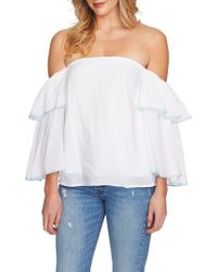 1.STATE - Tiered Sleeve Off The Shoulder Top - Lyst