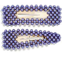 BaubleBar Scarlett Set Of 2 Hair Clips - Purple