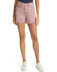 Rag & Bone Maya High-rise Shorty Short - Light Plum Relaxed Fit Light Plum Jean Short - Multicolour
