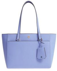 Lyst - Tory Burch Angelux Michelle Tote in Blue 812762c0825f6