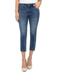 Kut From The Kloth Lauren Crop Jeans - Blue