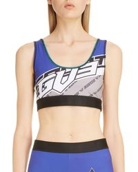 Givenchy Logo Sports Bra - Blue