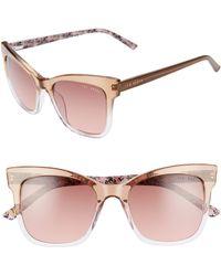 3b8b3c8fb5 Lyst - COACH Sunglasses Hc 8215 F 548980 Denim Taupe Glitter ...