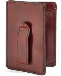 Bosca - Old Leather Front Pocket Id Wallet - Lyst