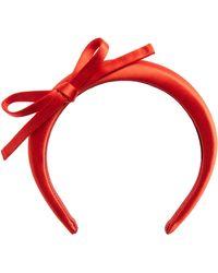 Prada Satin Headband - Red
