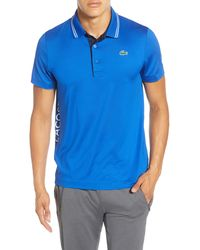 Lacoste Regular Fit Tipped Polo - Blue