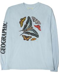 Parks Project X National Geographic Butterfly Long Sleeve Graphic Tee - Blue