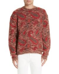 Lemaire - Mohair Blend Paisley Sweater - Lyst