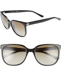 872be2248e0 Tory Burch - 57mm Gradient Sunglasses - - Lyst