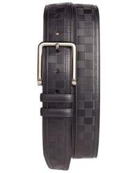 Mezlan - Check Leather Belt - Lyst