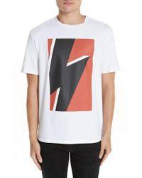 7432027f56a6 Lyst - Neil Barrett Tonal Thunderbolt Graphic T-shirt in Black for Men