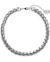 Karine Sultan - Braided Link Collar Necklace - Lyst