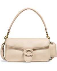 COACH Pillow Leather Crossbody Bag - White