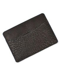 Martin Dingman   'jameson' Matte Finish Genuine Alligator Leather Card Case   Lyst