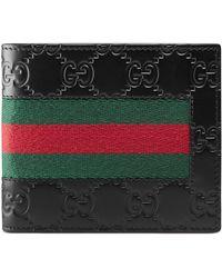 8dcd25798fd Lyst - Gucci Leather Gg Wallet in Black for Men