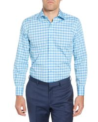 Lorenzo Uomo - Trim Fit Check Dress Shirt - Lyst