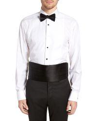 Nordstrom Silk Cummerbund & Pre-tied Bow Tie Set - Black