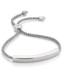 Monica Vinader - Engravable Linear Friendship Bracelet - Lyst