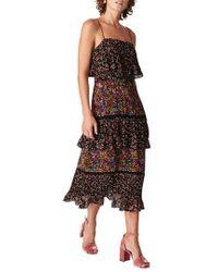 Whistles - Skylar Peony Print Tiered Dress - Lyst