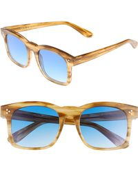 Wildfox - Gaudy Zero 51mm Flat Square Sunglasses - Sierra Tortoise - Lyst