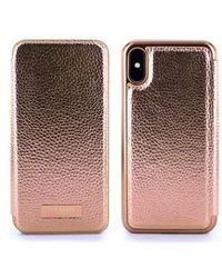 Ted Baker - Fenela Faux Leather Iphone X Mirror Folio Case - Lyst