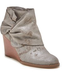 Sole Society Pegie Wedge Bootie - Grey