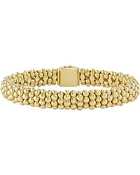 Lagos Caviar Gold Collection 18k Gold Beaded Bracelet - Metallic