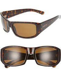 c08228636fcf Smith - Bauhaus 59mm Chromapoptm Polarized Wraparound Sunglasses - Lyst