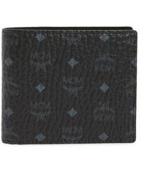 MCM - Logo Coated Canvas & Leather Wallet - Lyst