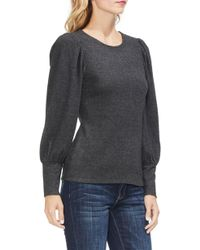 Vince Camuto - Bubble Sleeve Knit Top - Lyst