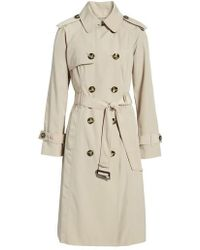 London Fog - Long Double Breasted Trench Coat - Lyst