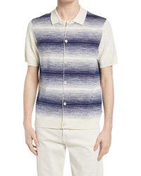NN07 - Nolan Button-up Cotton Blend Polo Sweater - Lyst