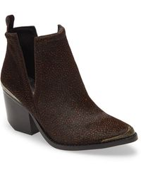 Jeffrey Campbell Cromwell Cutout Western Boot - Brown