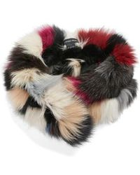 Vincent Pradier - Genuine Fox Fur Scarf - Lyst
