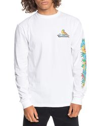 Quiksilver Flying Fortress Long Sleeve Graphic Tee - White