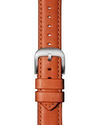 Shinola Leather Apple Watch Strap - Orange