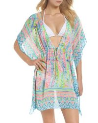 Lilly Pulitzer - Lilly Pulitzer Gardenia Tie Waist Cover-up - Lyst
