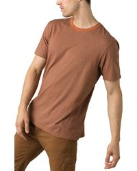 Prana Tall Fit Crewneck T-shirt - Brown