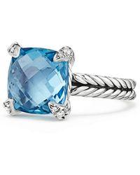 David Yurman - Châtelaine Ring With Semiprecious Stone & Diamonds - Lyst